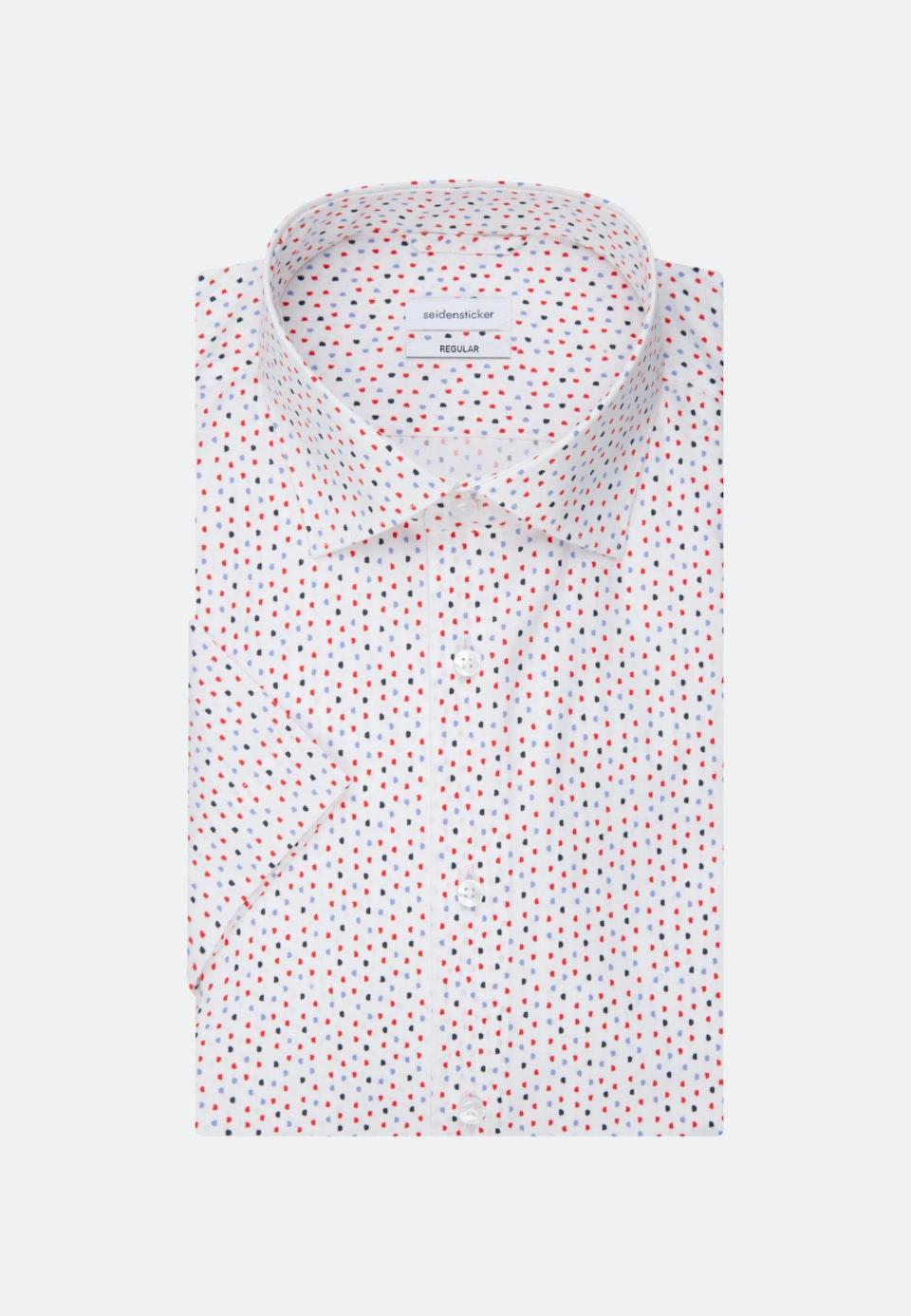 Popeline Kurzarm Business Hemd in Regular mit Kentkragen in Rot |  Seidensticker Onlineshop