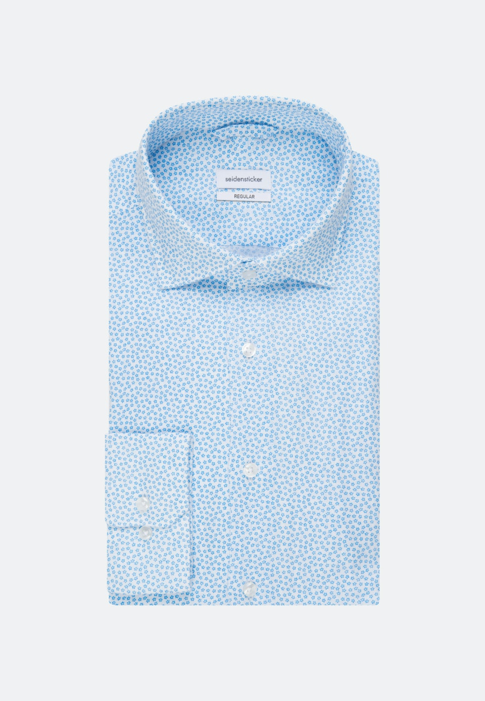 Bügelleichtes Leinen Business Hemd in Regular mit Kentkragen in Türkis/Petrol |  Seidensticker Onlineshop