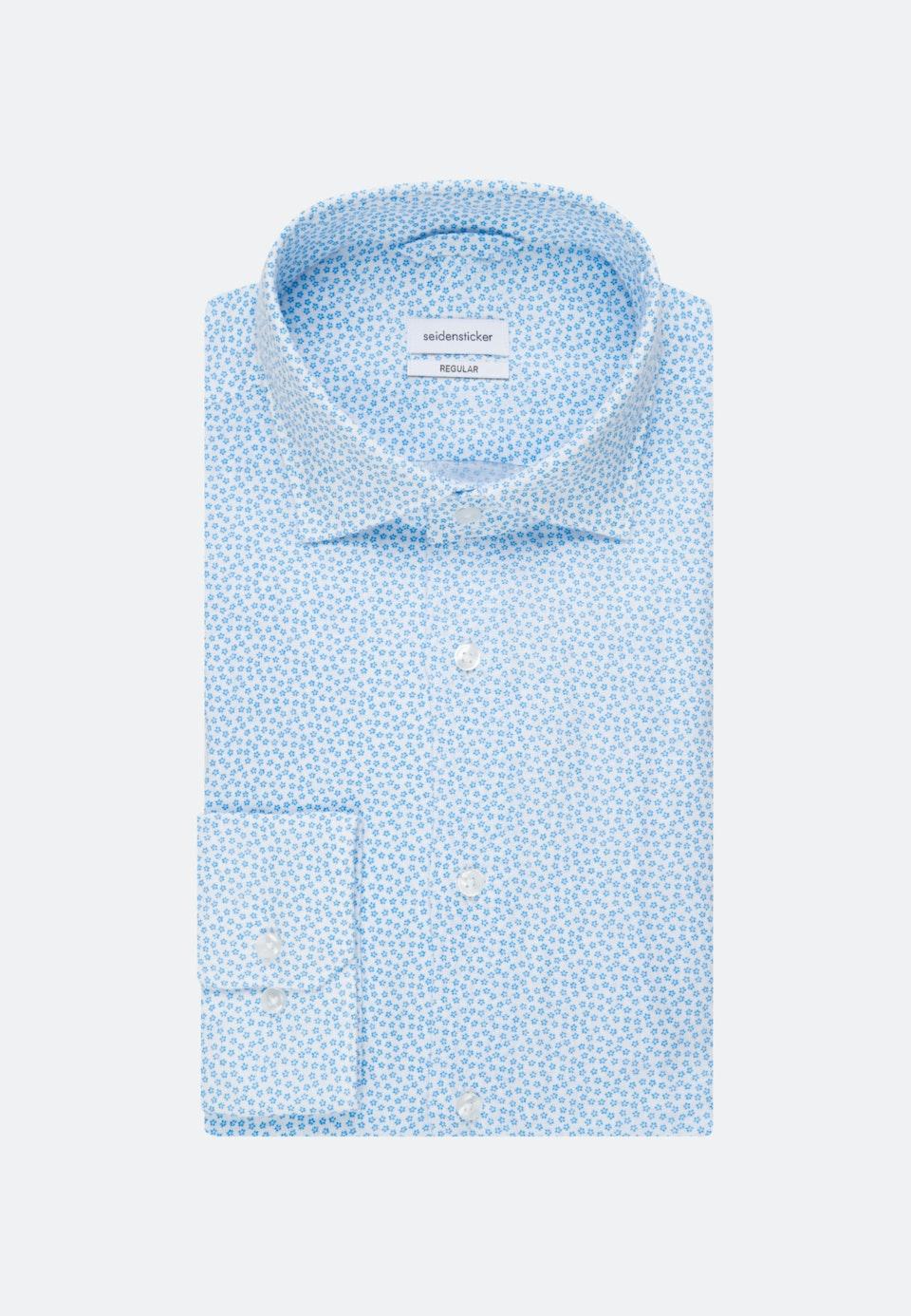 Leinen Leinenhemd in Regular mit Kentkragen in Türkis/Petrol |  Seidensticker Onlineshop