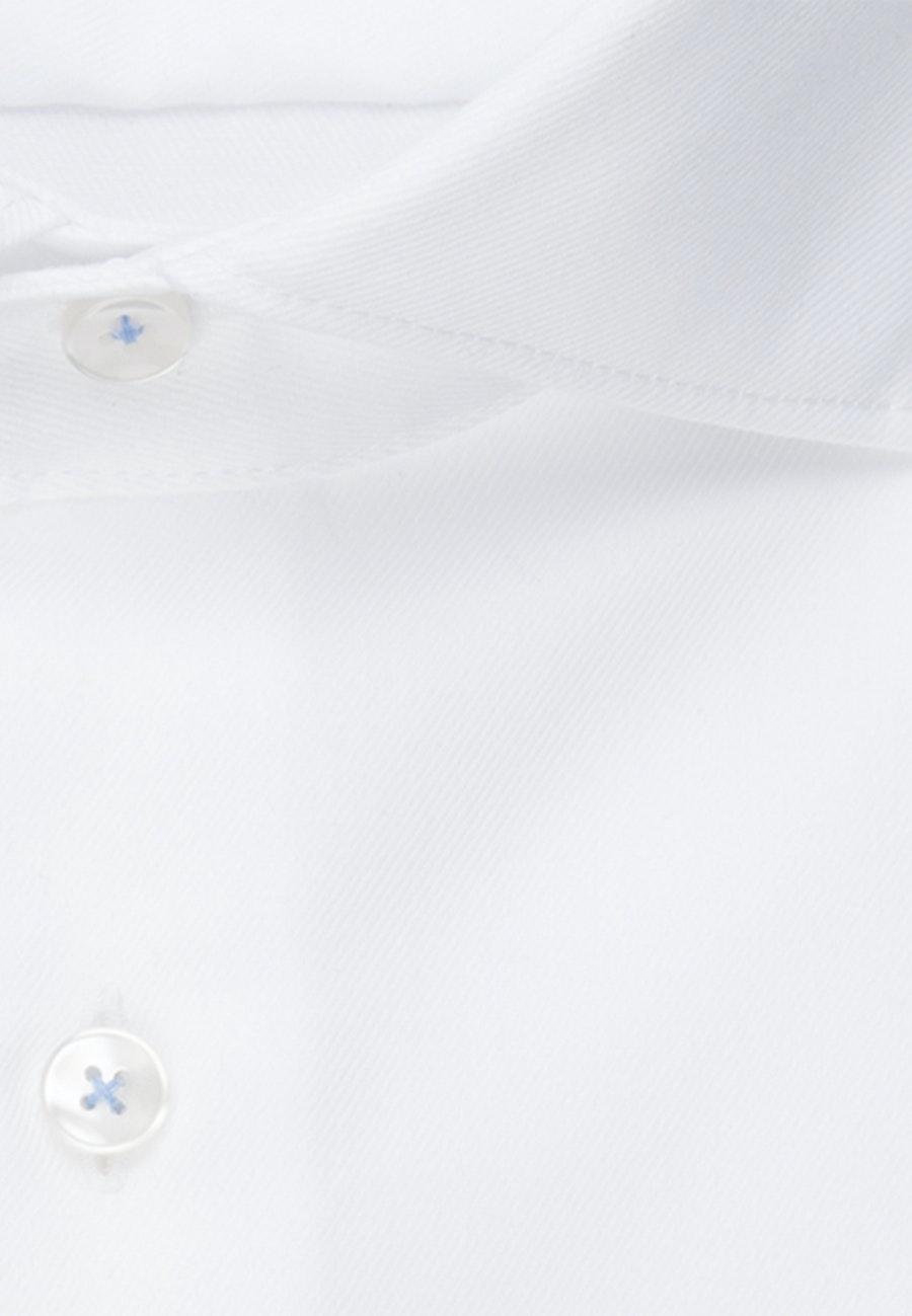 Bügelfreies Twill Business Hemd in Shaped mit Kentkragen und extra langem Arm in Weiß |  Seidensticker Onlineshop