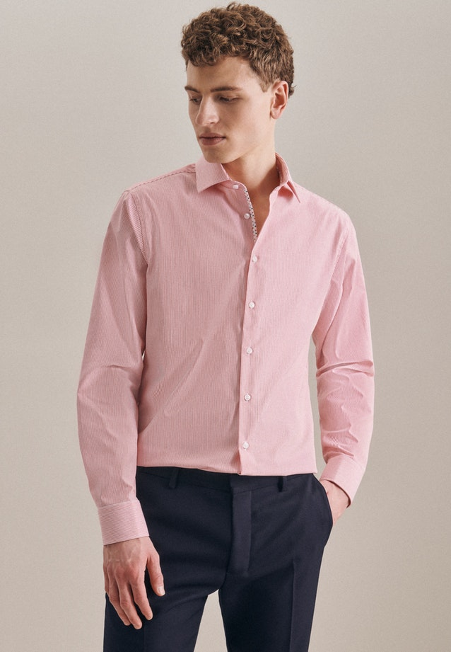 Bügelfreies Popeline Business Hemd in Slim mit Kentkragen in Rot |  Seidensticker Onlineshop