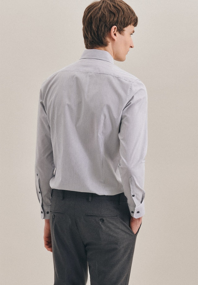 Bügelfreies Popeline Business Hemd in Slim mit Kentkragen in Grau |  Seidensticker Onlineshop