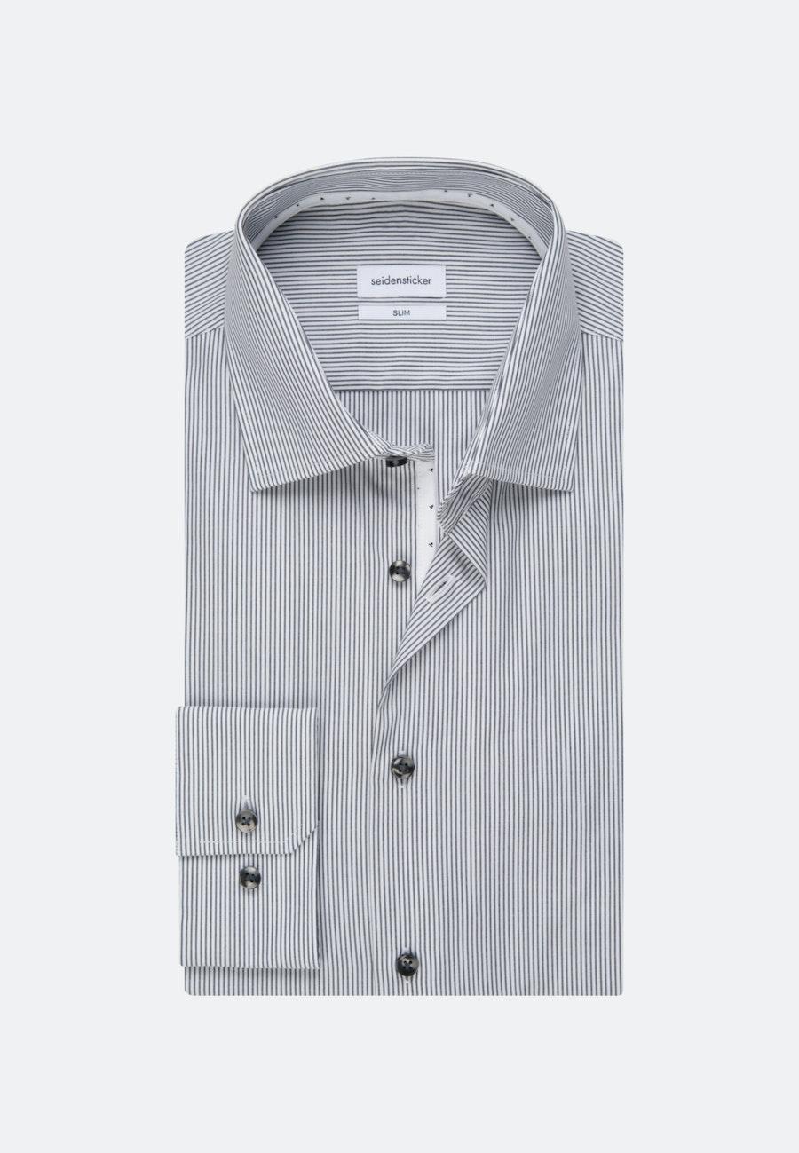 Non-iron Poplin Business Shirt in Slim with Kent-Collar in Grey |  Seidensticker Onlineshop