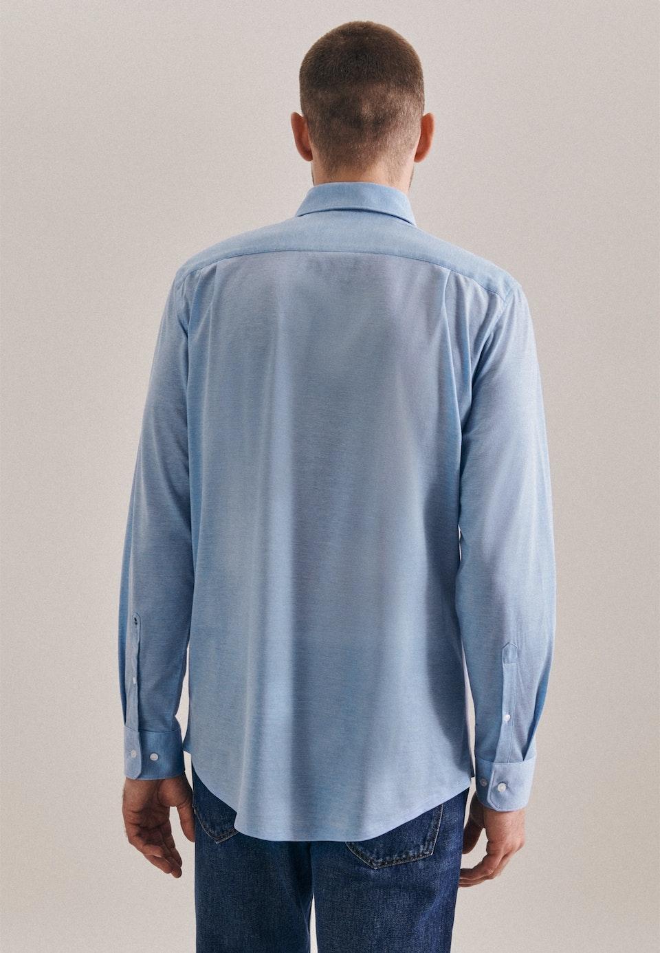 Jerseyhemd in Regular mit Kentkragen in Hellblau |  Seidensticker Onlineshop