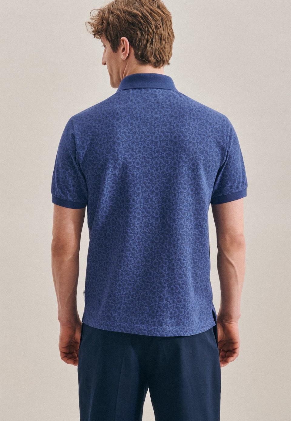 Polo-Shirt aus 100% Baumwolle in Dunkelblau |  Seidensticker Onlineshop