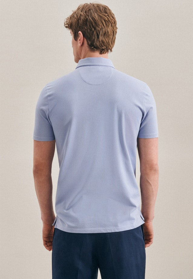 Polo-Shirt Shaped made of cotton blend in Light blue |  Seidensticker Onlineshop