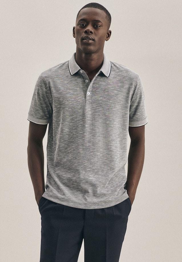 Polo-Shirt aus Baumwollmischung in Grau |  Seidensticker Onlineshop