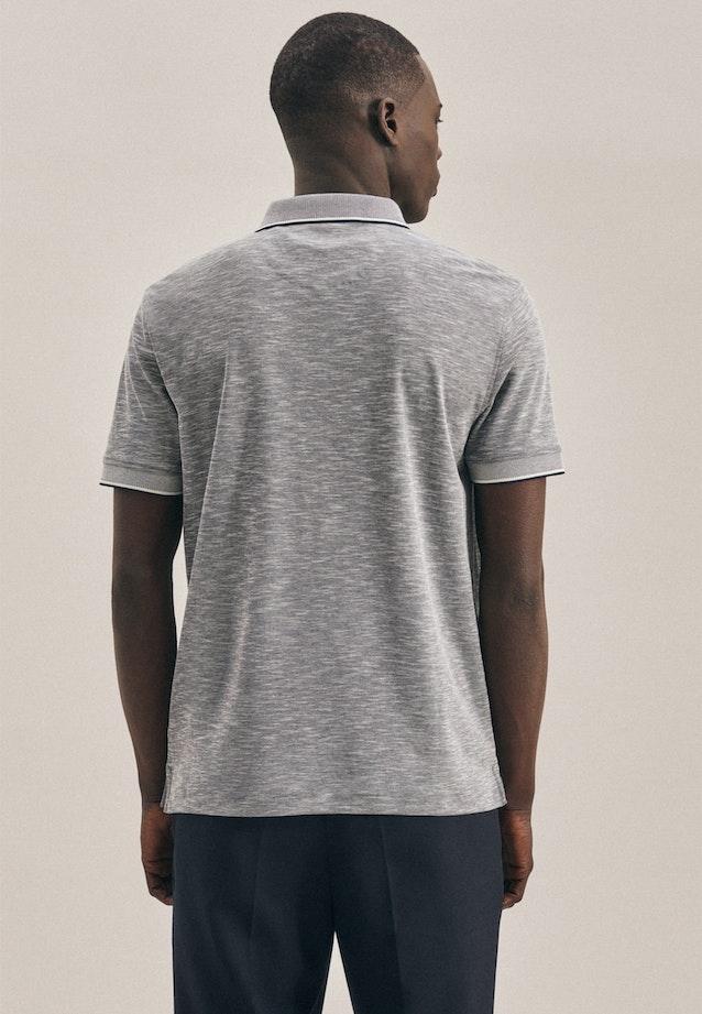 Polo-Shirt Druck in Grau |  Seidensticker Onlineshop