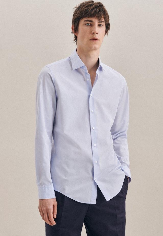 Bügelleichtes Chambray Business Hemd in Slim mit Kentkragen in Hellblau |  Seidensticker Onlineshop