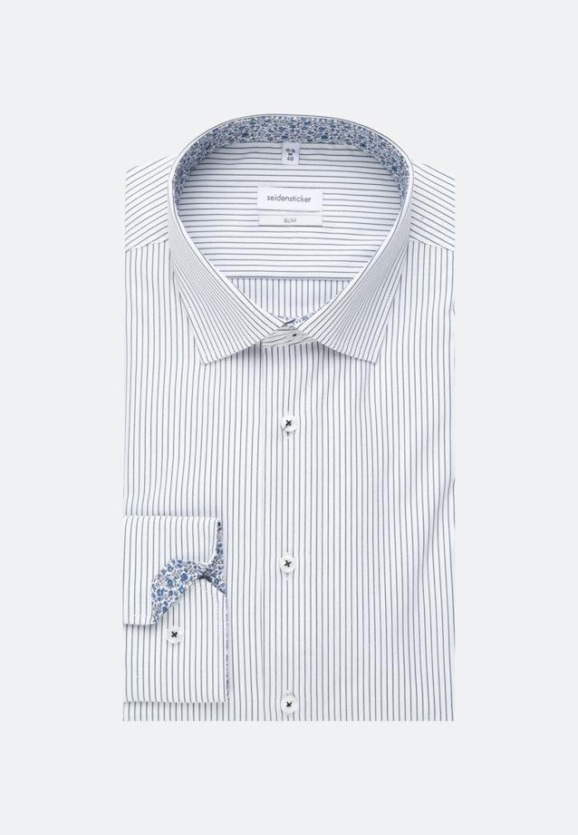 Non-iron Oxford Business Shirt in Slim with Kent-Collar in Dark blue |  Seidensticker Onlineshop