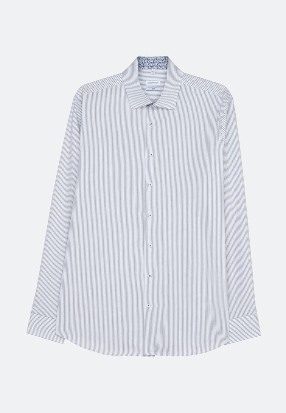 Bügelfreies Oxford Business Hemd in Slim mit Kentkragen in Dunkelblau    Seidensticker Onlineshop