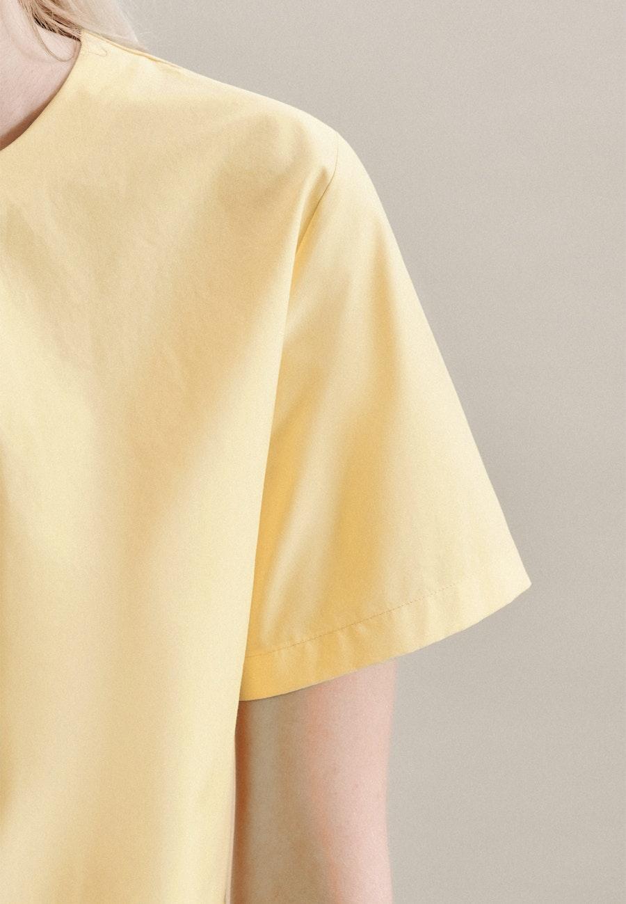 Kurzarm Popeline Shirtbluse aus 100% Baumwolle in Gelb |  Seidensticker Onlineshop