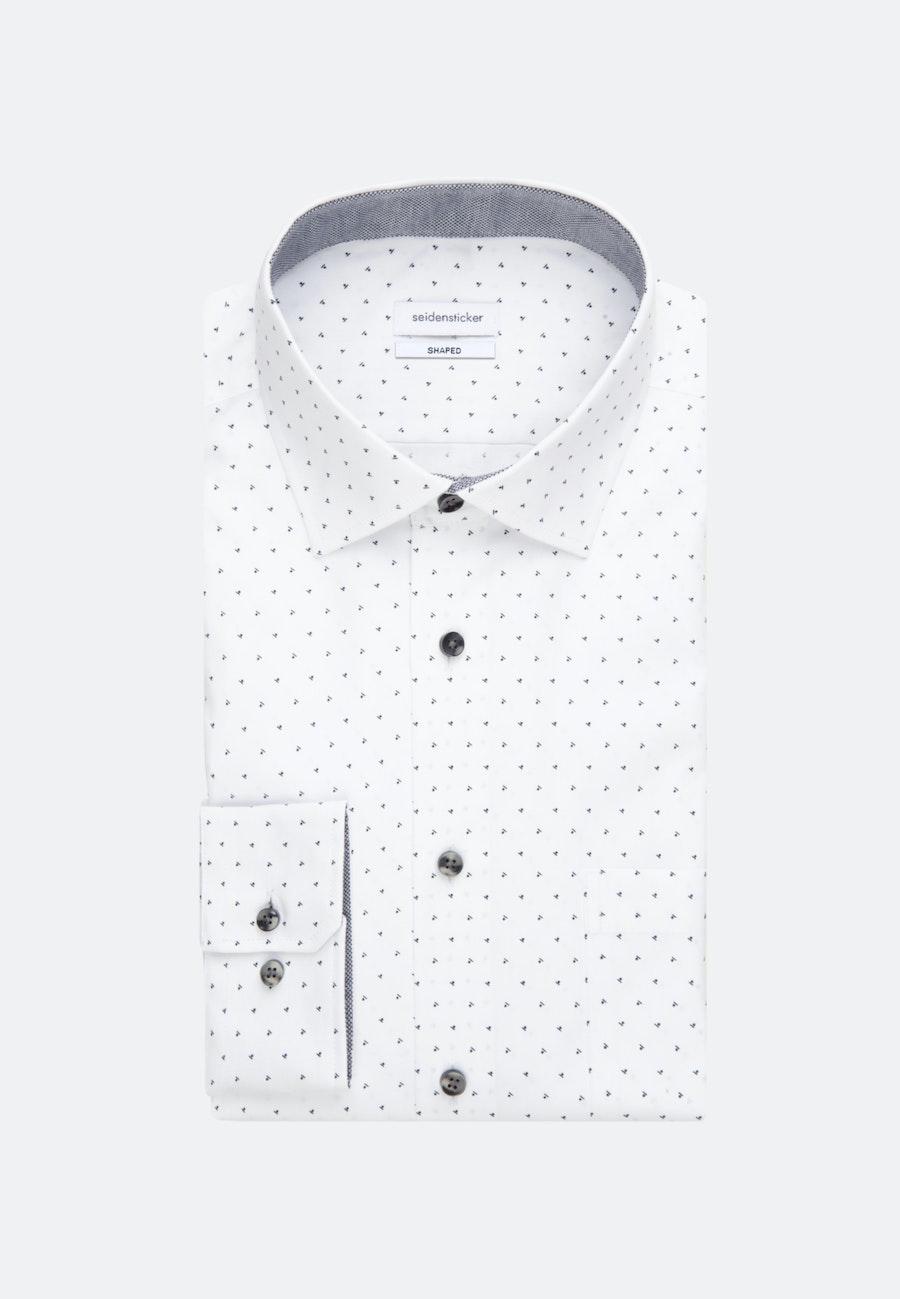 Bügelleichtes Popeline Business Hemd in Shaped mit Kentkragen in Grau |  Seidensticker Onlineshop