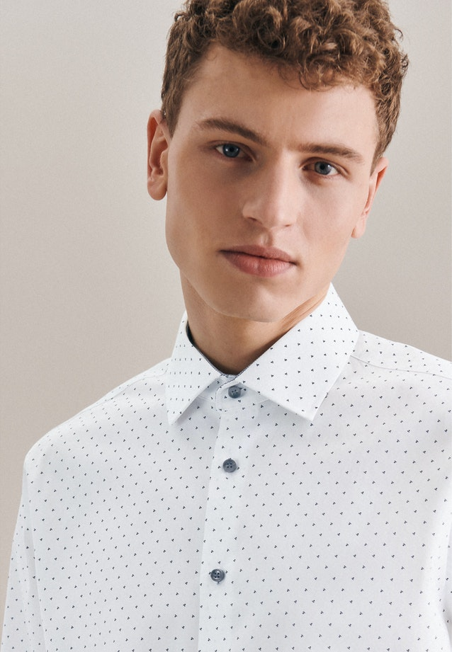 Easy-iron Popeline Business Shirt in Slim with Kent-Collar in Grey |  Seidensticker Onlineshop