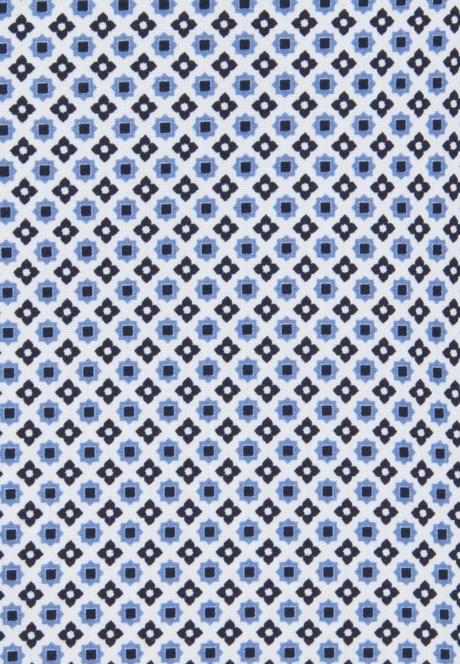 Popeline Kelchkragenbluse aus Baumwollmischung in Hellblau |  Seidensticker Onlineshop