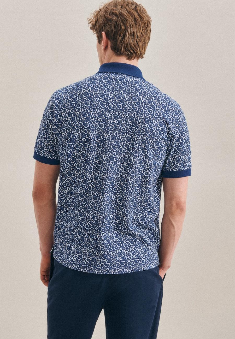 Polo-Shirt aus 100% Baumwolle in Mittelblau |  Seidensticker Onlineshop