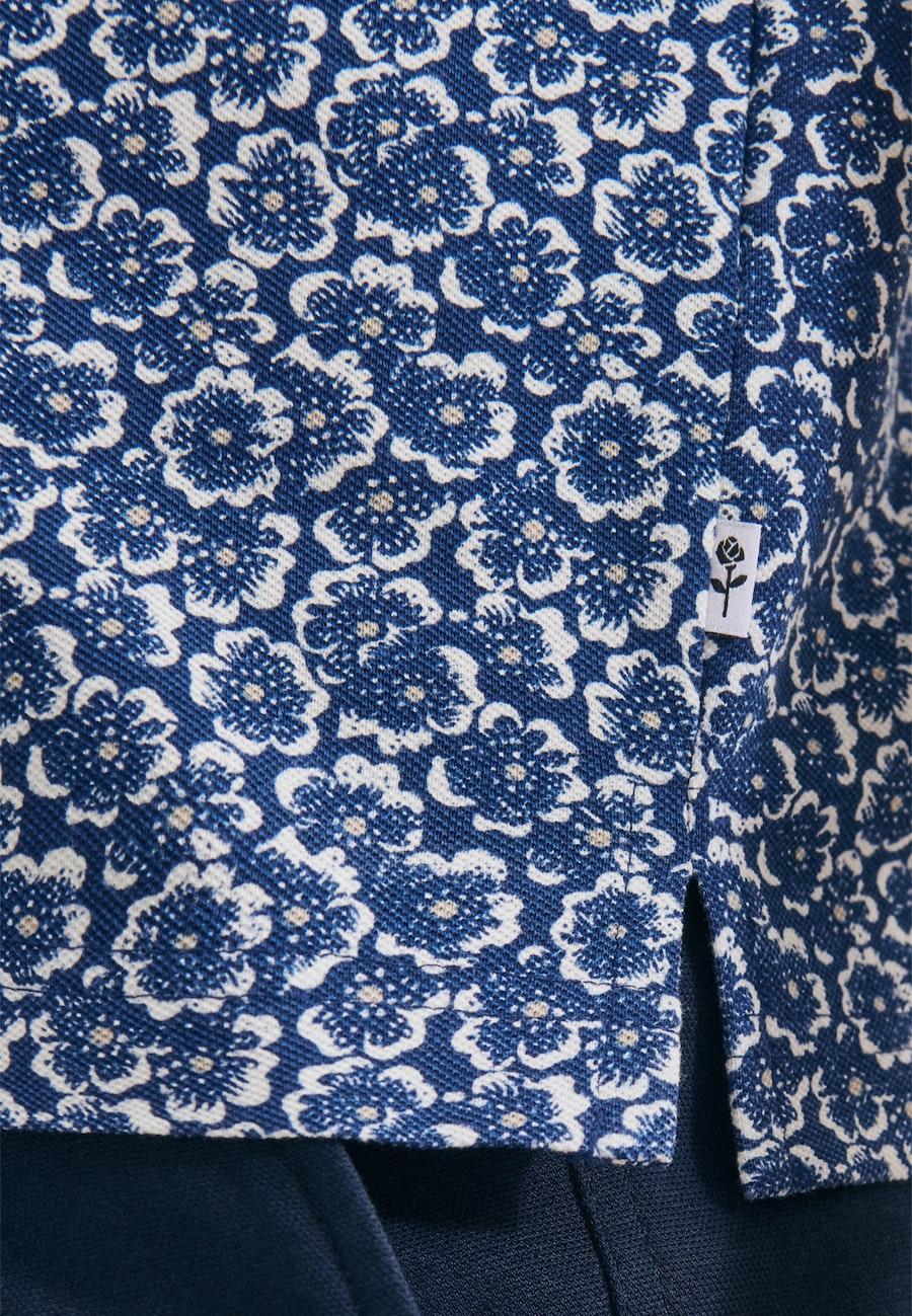 Polo-Shirt aus 100% Baumwolle in Mittelblau    Seidensticker Onlineshop