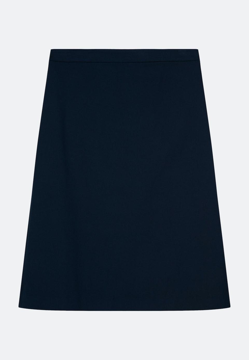 Twill Midi Skirt made of cotton blend in Dark blue |  Seidensticker Onlineshop