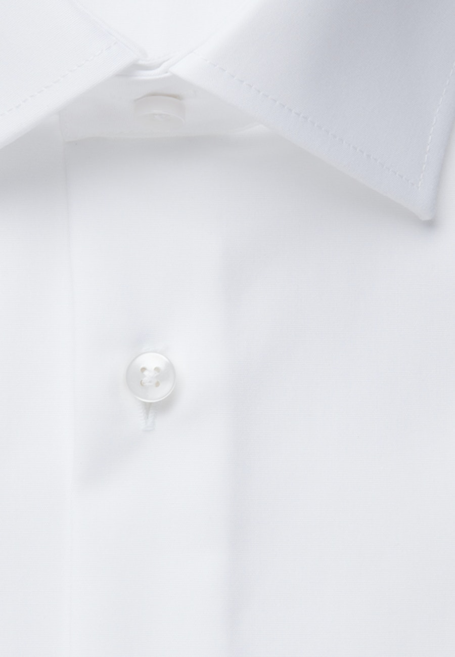 Non-iron Popeline Business Shirt in Shaped with Kent-Collar and extra long sleeve in White    Seidensticker Onlineshop