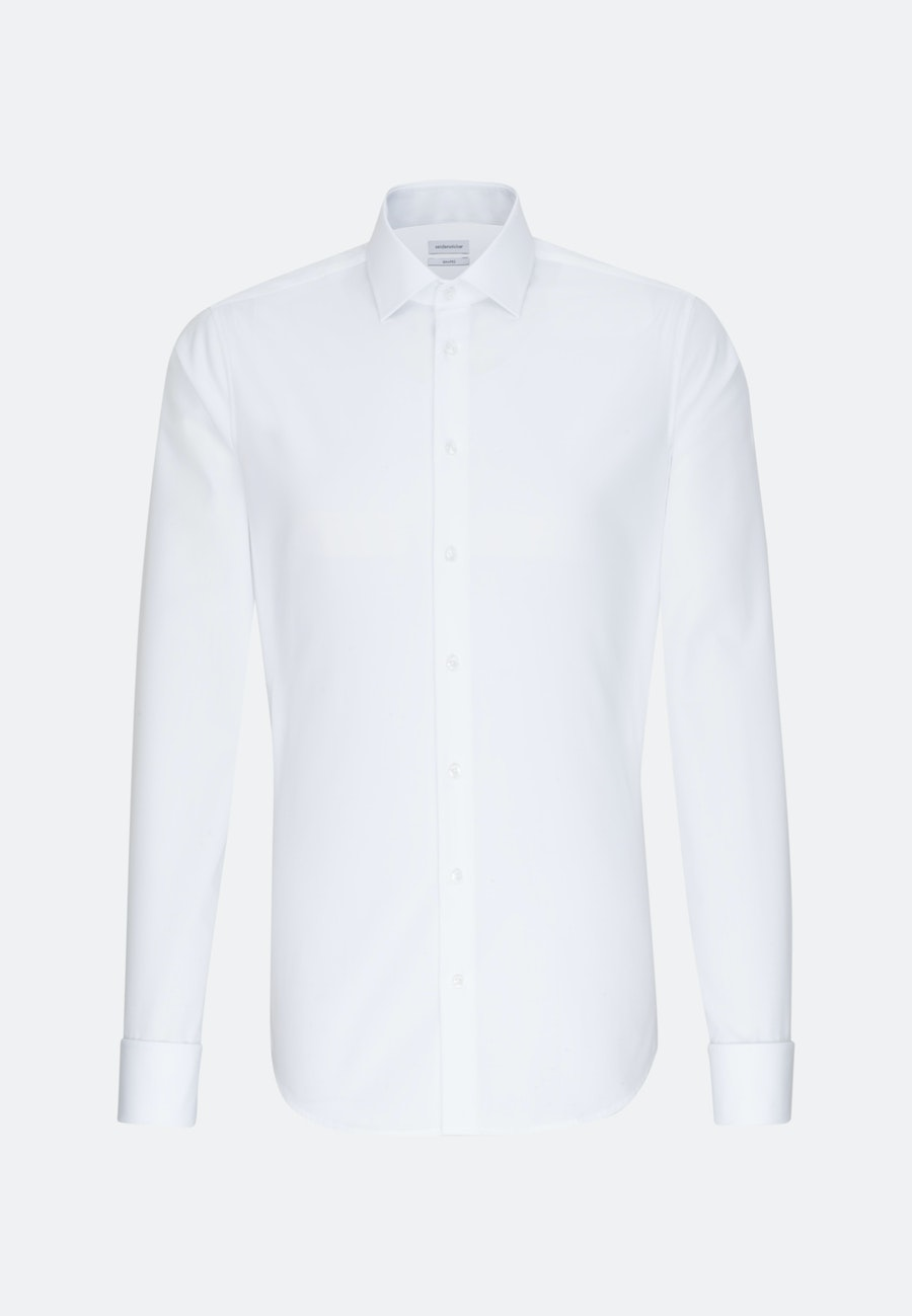 Non-iron Popeline Business Shirt in Shaped with Kent-Collar and extra long sleeve in White |  Seidensticker Onlineshop