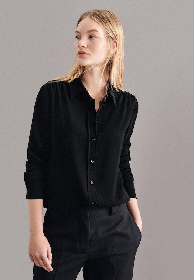 Crepe Shirt Blouse made of 100% Polyester in Black |  Seidensticker Onlineshop
