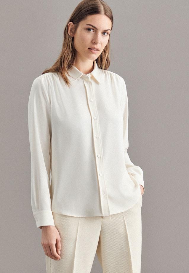 Crepe Shirt Blouse made of 100% Polyester in Ecru |  Seidensticker Onlineshop