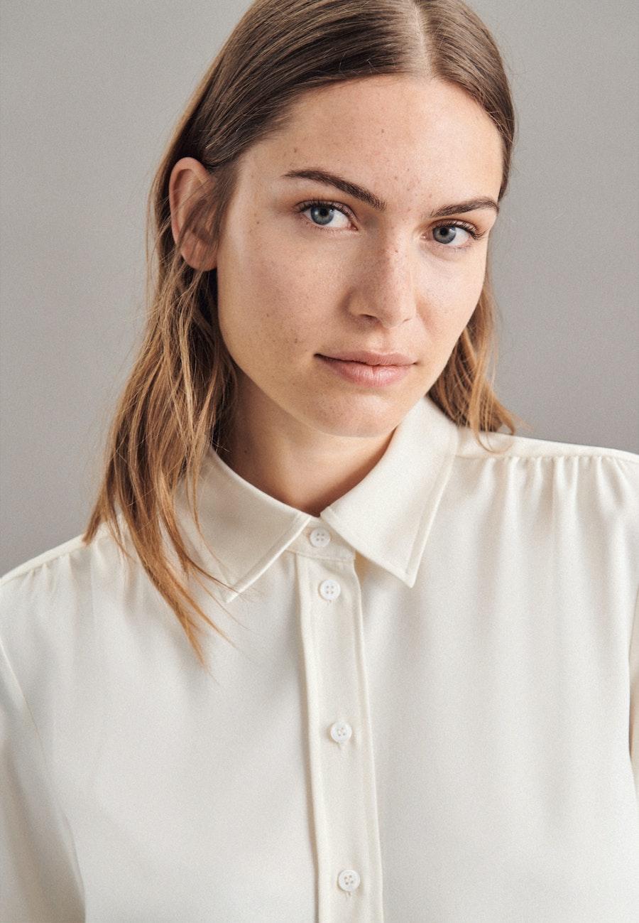 Krepp Hemdbluse aus 100% Polyester in Ecru |  Seidensticker Onlineshop