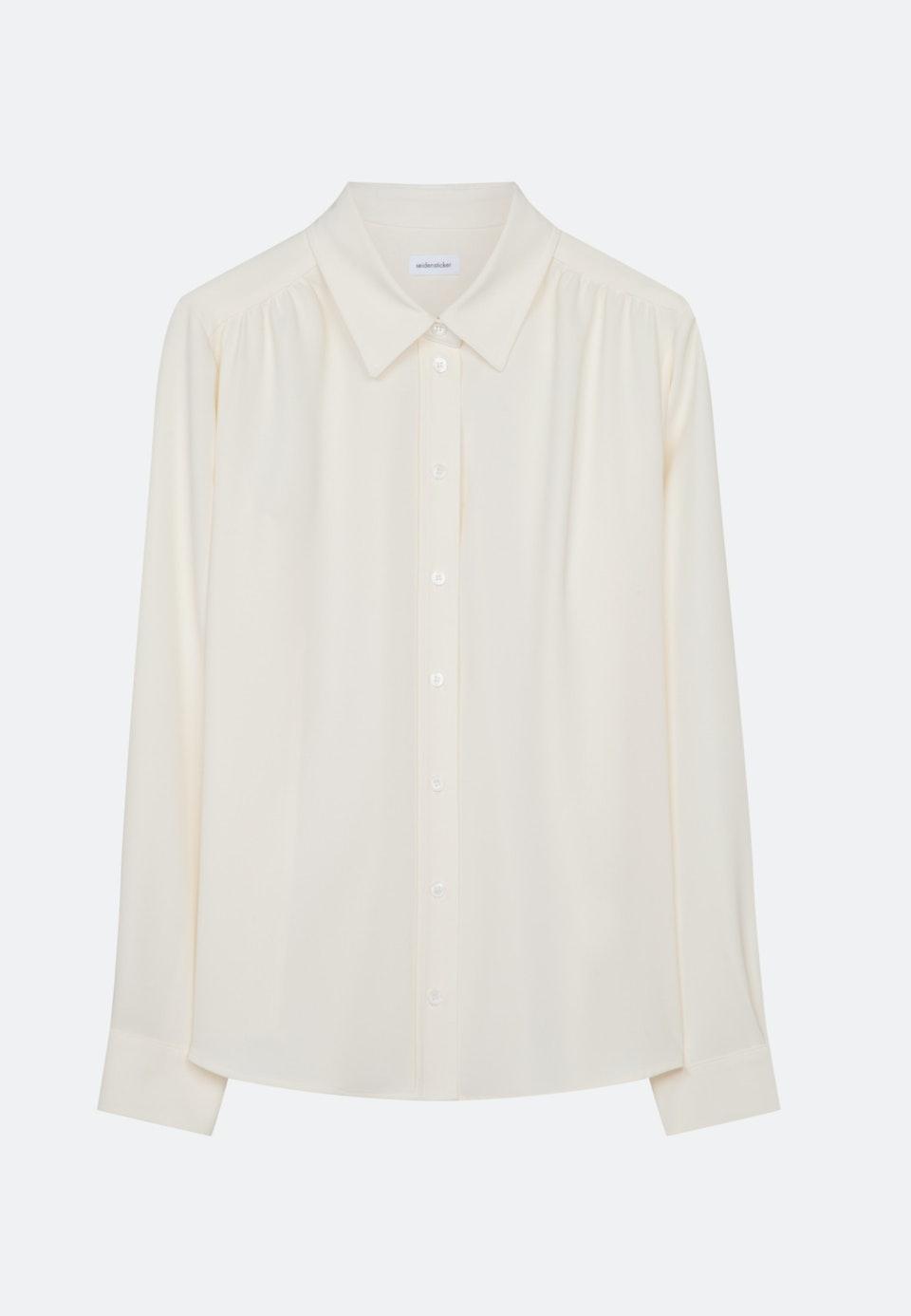 Krepp Hemdbluse aus 100% Polyester in Ecru    Seidensticker Onlineshop