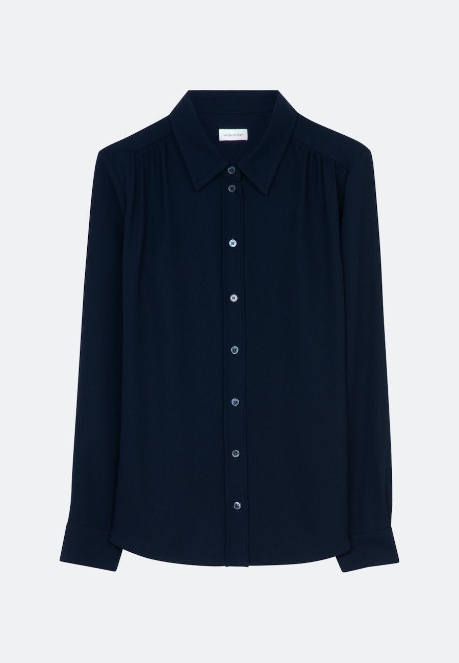 Krepp Hemdbluse aus 100% Polyester in Dunkelblau    Seidensticker Onlineshop