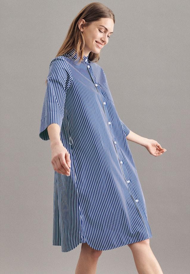 Satin Midi Dress made of 100% Cotton in Dark blue |  Seidensticker Onlineshop