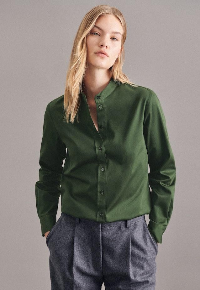 Satin Stand-Up Blouse made of 100% Cotton in Green |  Seidensticker Onlineshop
