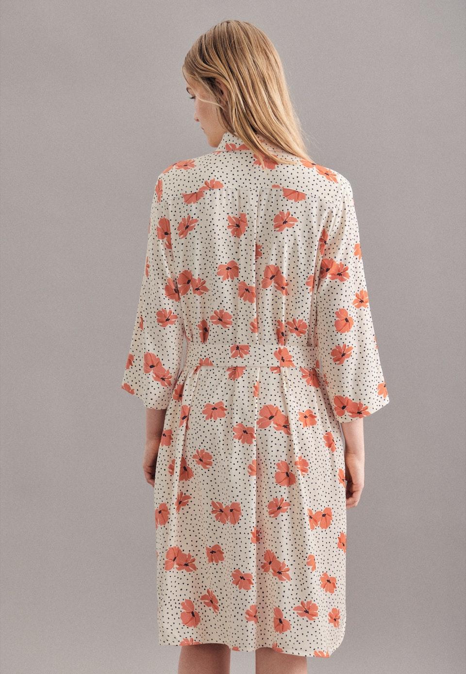 Krepp Midi Kleid aus Viskosemischung in Ecru |  Seidensticker Onlineshop