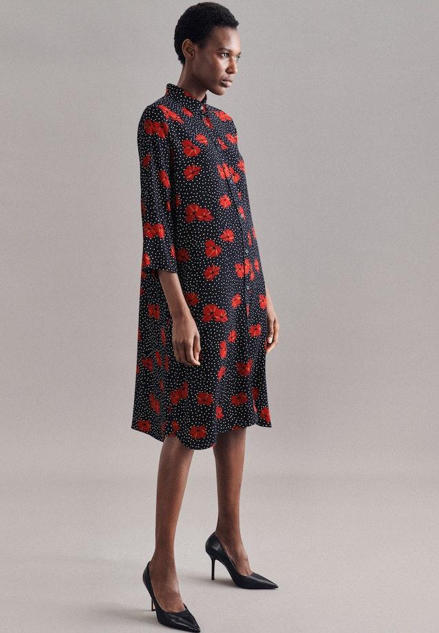 Crepe Midi Dress made of viscose blend in Dark blue |  Seidensticker Onlineshop