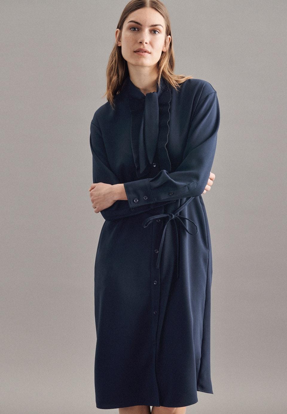 Krepp Maxi Kleid aus 100% Polyester in Dunkelblau    Seidensticker Onlineshop