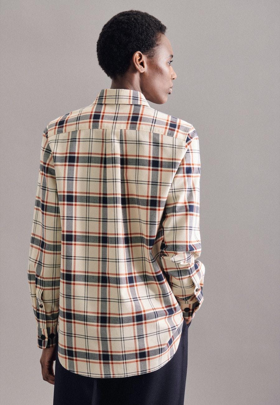 Flanell Hemdbluse aus 100% Baumwolle in Ecru |  Seidensticker Onlineshop
