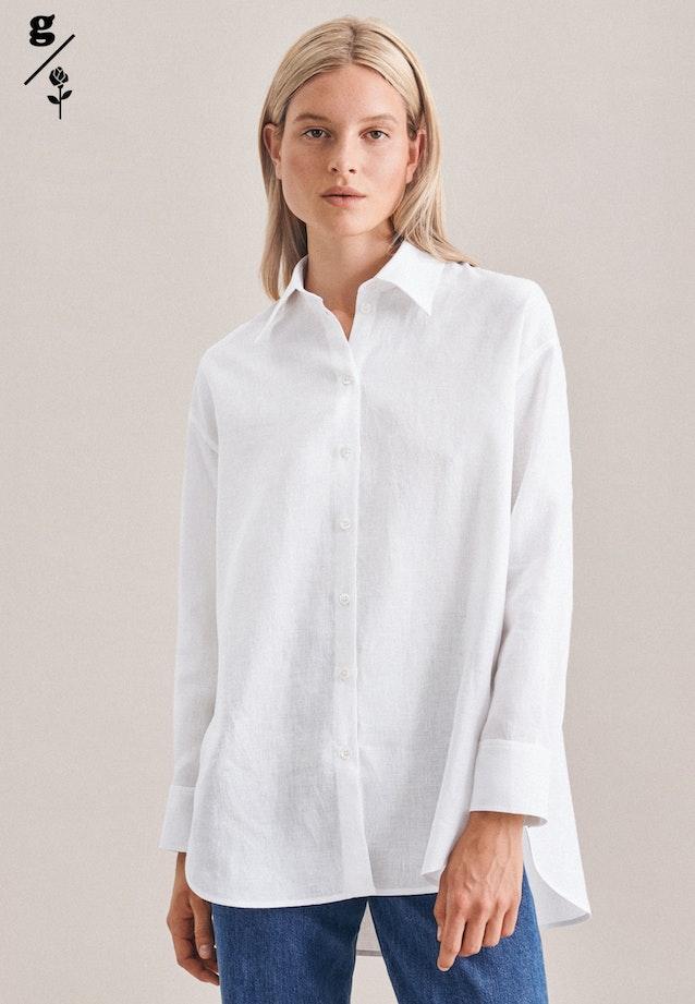 Linen Long Blouse made of 100% Linen in White |  Seidensticker Onlineshop