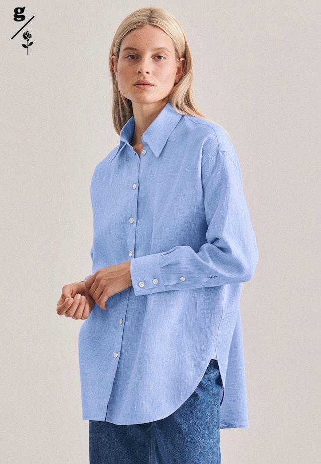 Linen Long Blouse made of 100% Linen in Dark blue |  Seidensticker Onlineshop