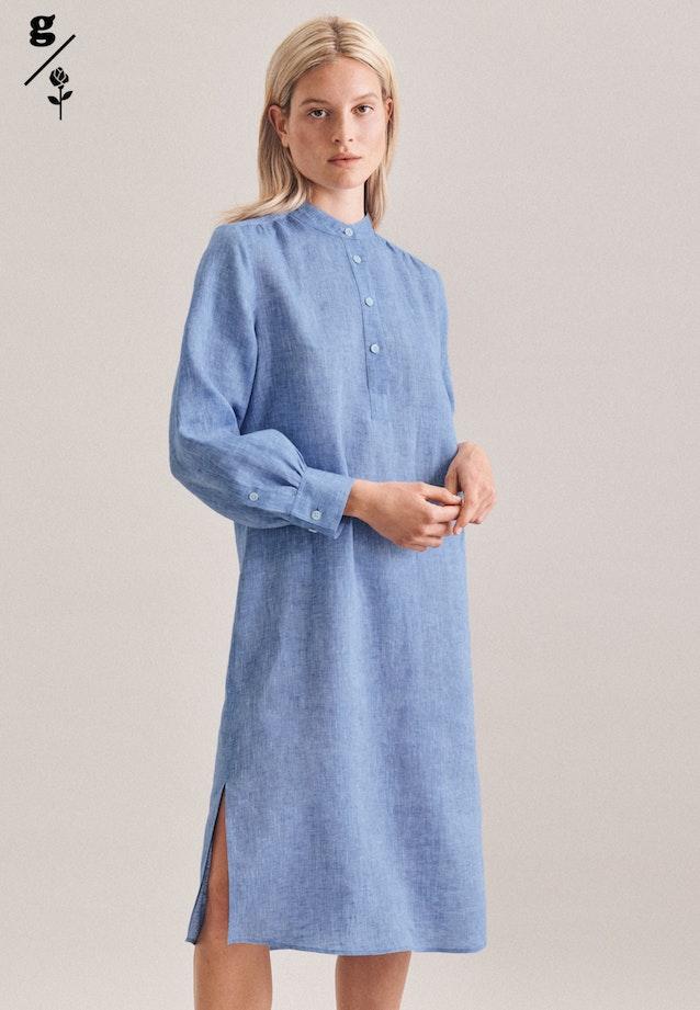 Linen Maxi Dress made of 100% Linen in Dark blue |  Seidensticker Onlineshop