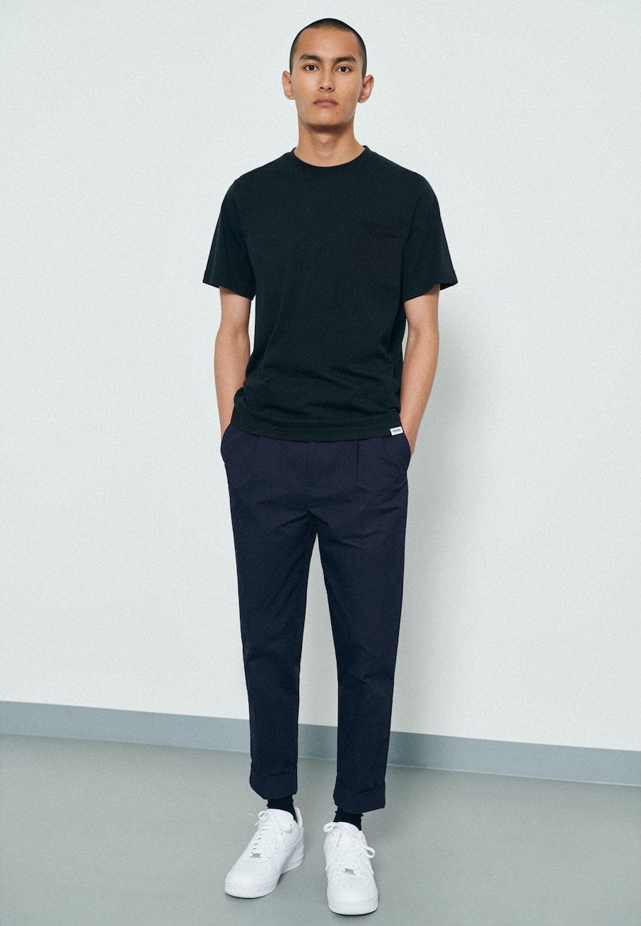 Rundhals T-Shirt aus 100% Baumwolle in Schwarz    Seidensticker Onlineshop