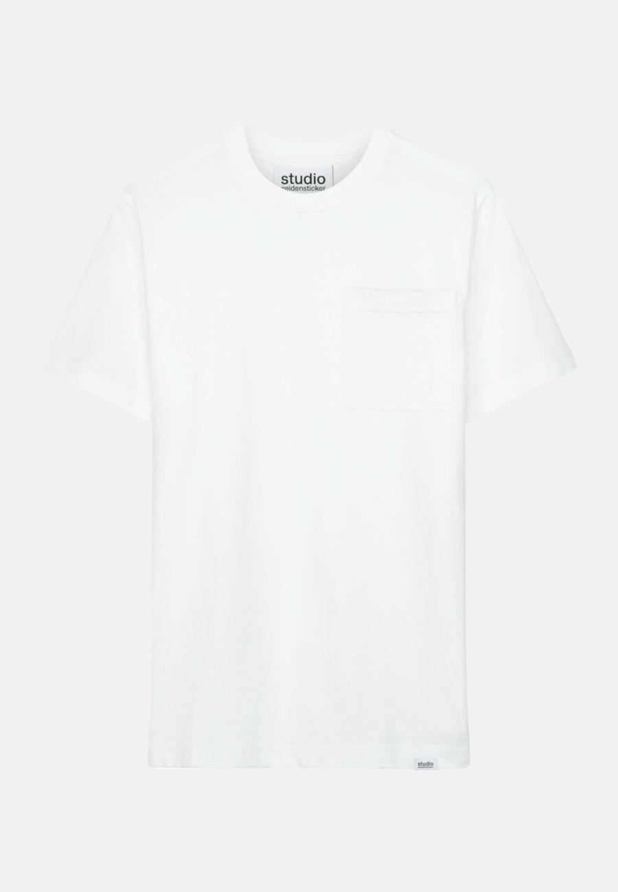 Rundhals T-Shirt aus 100% Baumwolle in Weiß    Seidensticker Onlineshop