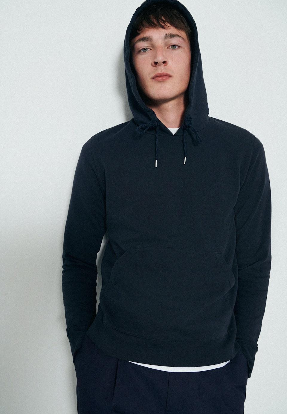 Kapuze Sweat-Shirt 100% Baumwolle in Dunkelblau |  Seidensticker Onlineshop