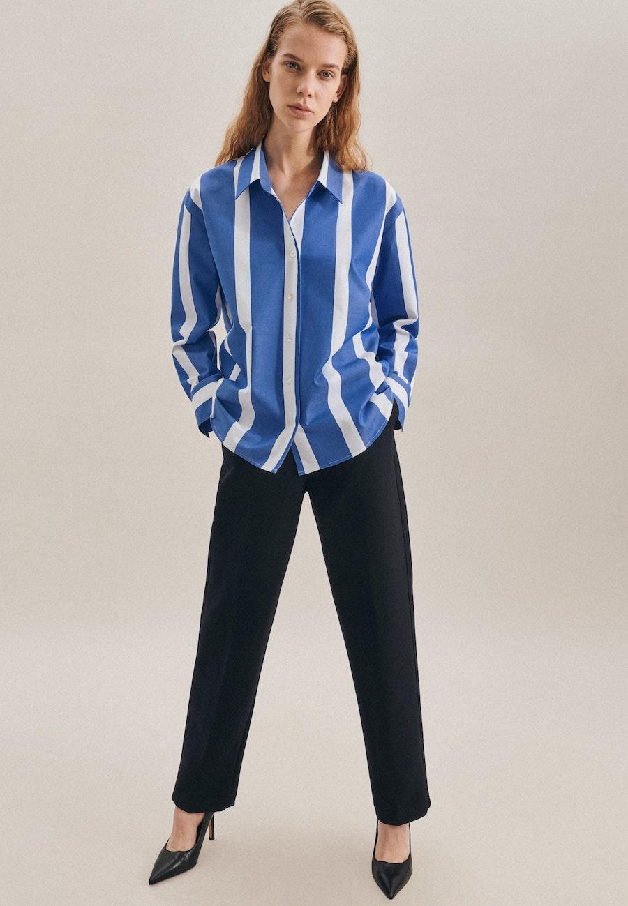 Twill Reverskragenbluse aus Baumwollmischung in Hellblau    Seidensticker Onlineshop