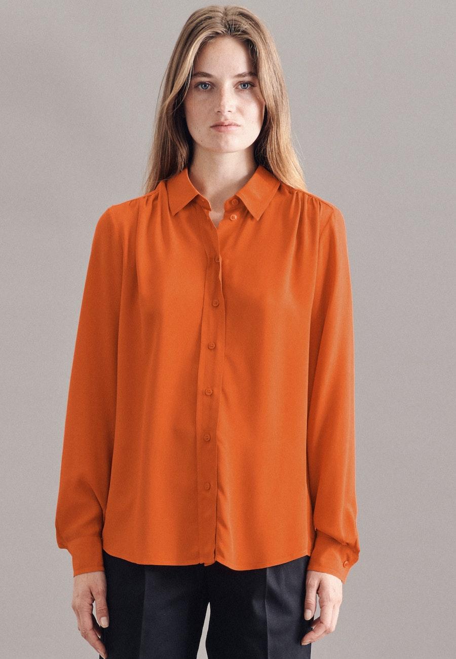Krepp Hemdbluse aus 100% Viskose in Orange |  Seidensticker Onlineshop