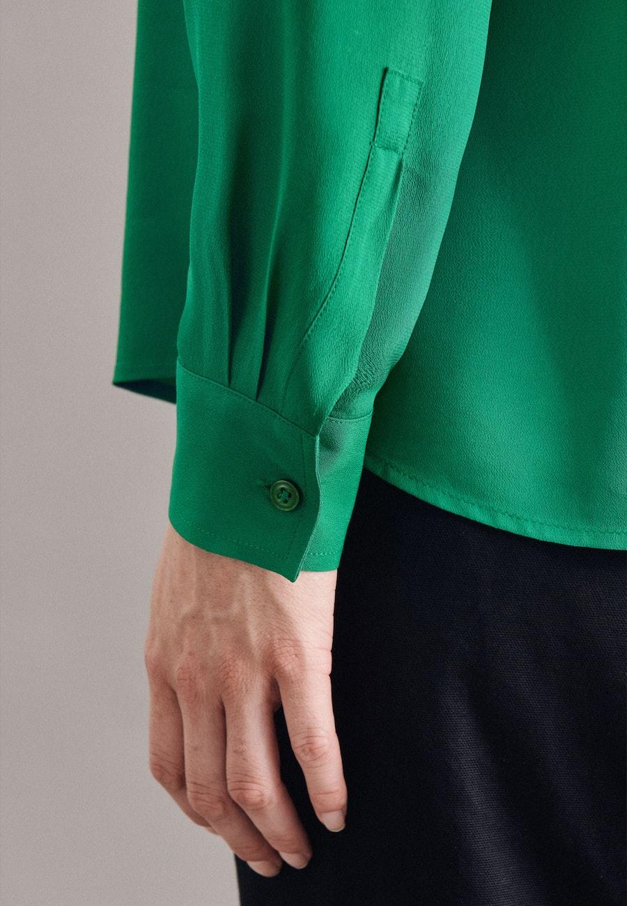 Krepp Hemdbluse aus 100% Viskose in Grün |  Seidensticker Onlineshop