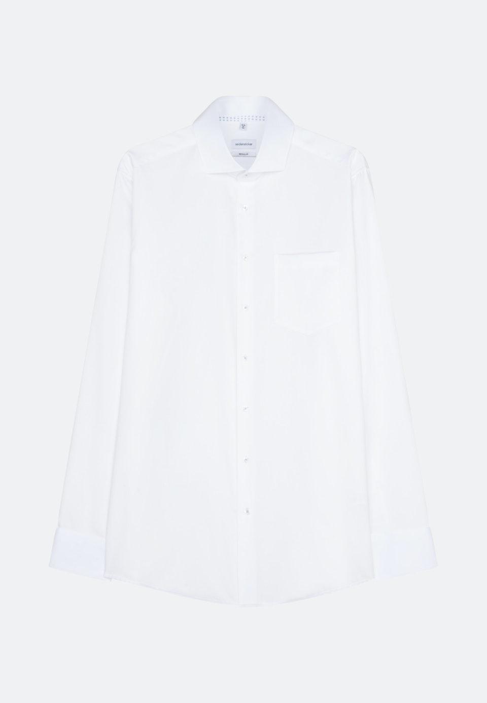 Bügelfreies Twill Business Hemd in Regular mit Kentkragen und extra langem Arm in Weiß |  Seidensticker Onlineshop