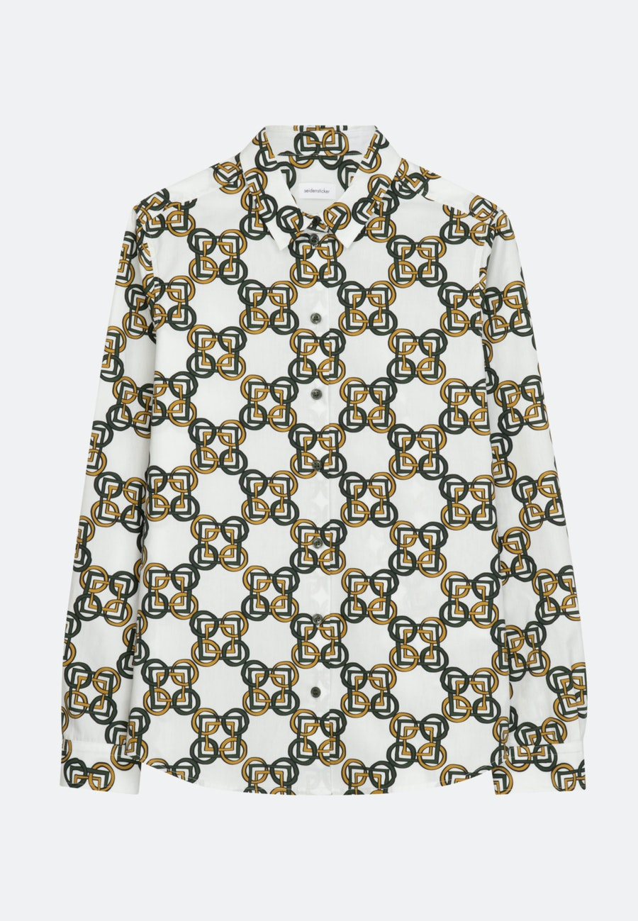 Popeline Hemdbluse aus 100% Baumwolle in Grün    Seidensticker Onlineshop