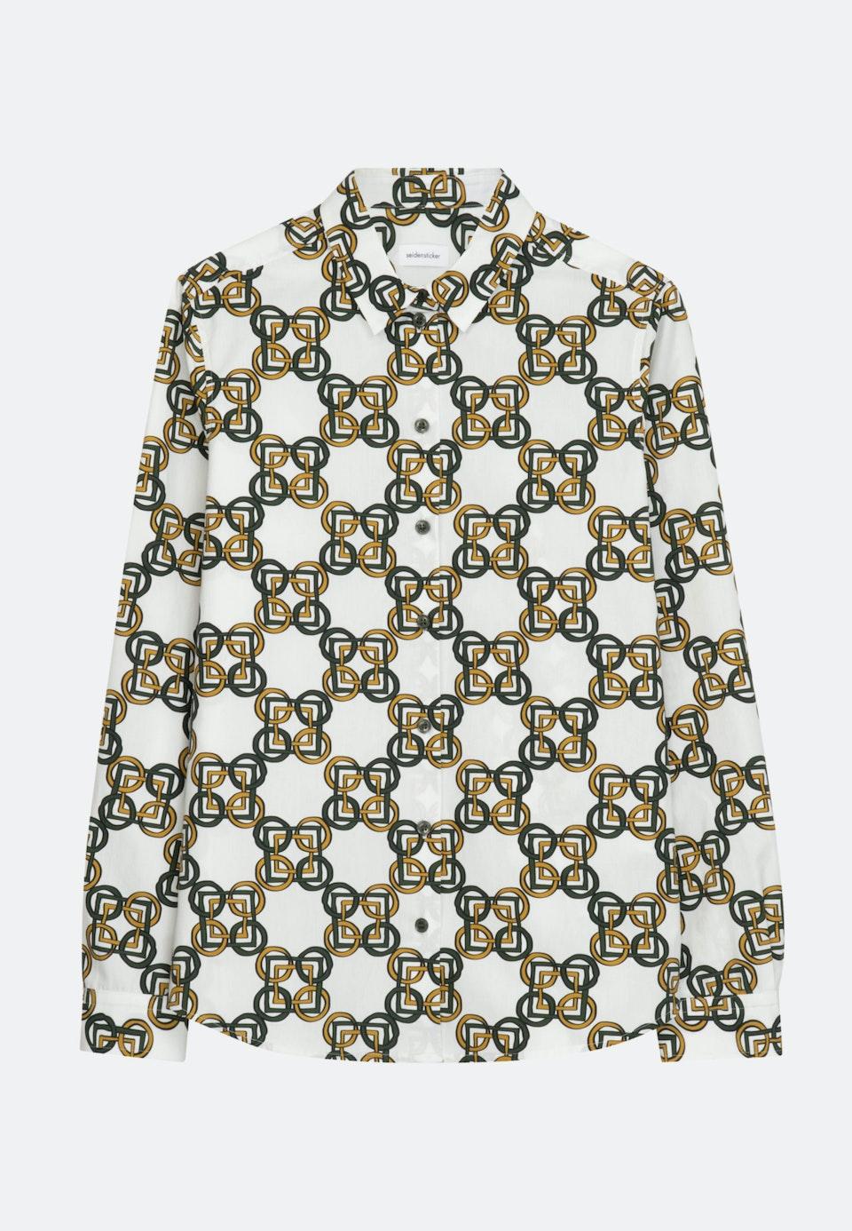 Popeline Hemdbluse aus 100% Baumwolle in Grün |  Seidensticker Onlineshop