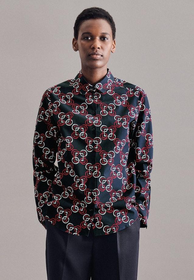 Poplin Shirt Blouse made of 100% Cotton in Dark blue |  Seidensticker Onlineshop