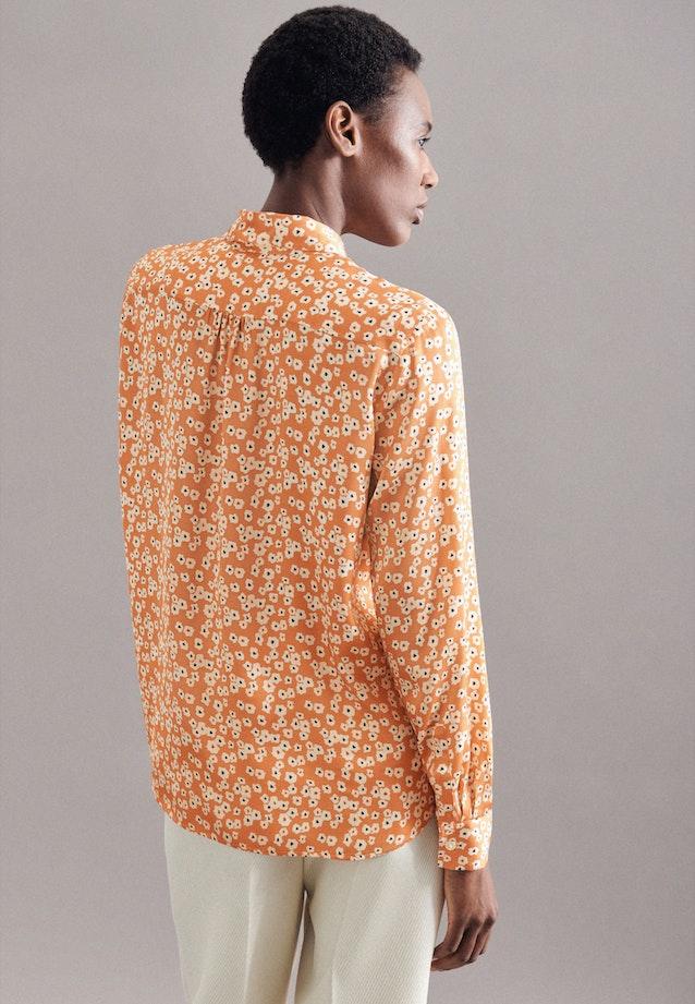Satin Tie-Neck Blouse made of 100% Viscose in Orange |  Seidensticker Onlineshop