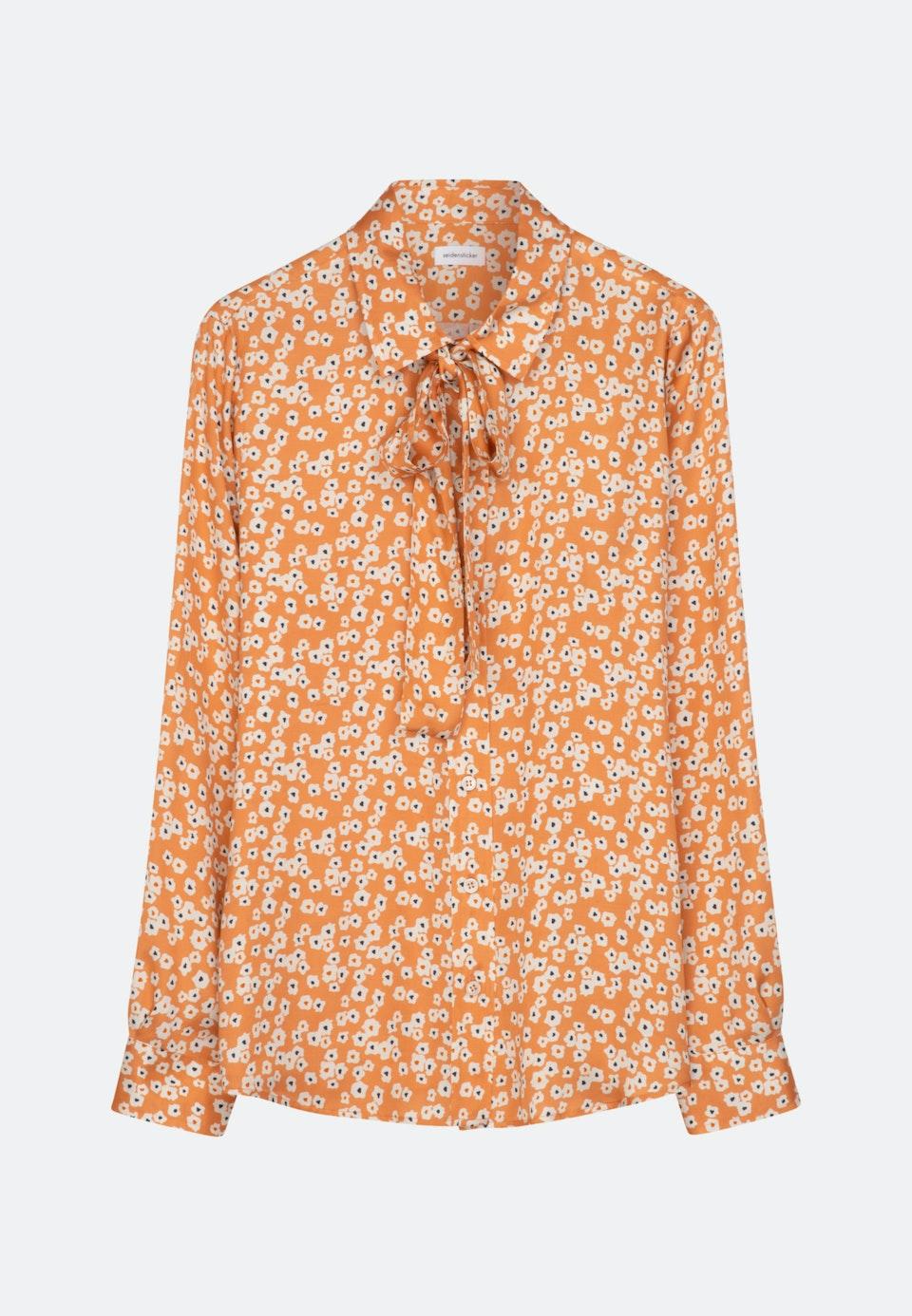 Satin Schluppenbluse aus 100% Viskose in Orange |  Seidensticker Onlineshop